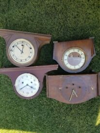4 old clocks