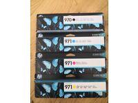 HP officejet toner cartridge 970/971 full set.