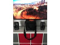 GENELEC Studio monitors 8020c still boxed + padded travel bag