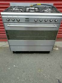 Stainless Steel 90cm A+++ Class Smeg 5 Burners Dual Fuel Range Cooker