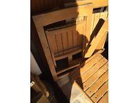 Set of 3 Vintage Fold away Oak chairs
