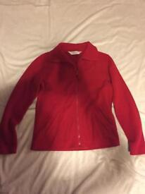 Red fleece jacket Dorothy Perkins size 10