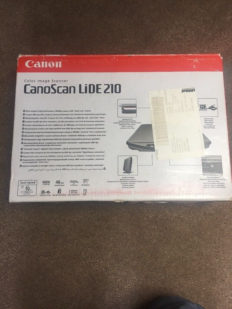 Canon scanner lide 210