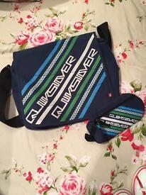 Quiksilver messenger bag and pencil casr