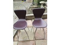 Spinning bar stools