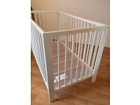 Ikea cot- nearly new. Mattress included.