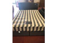 Star plan double divan bed