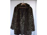 Faux fur half coat. size XL