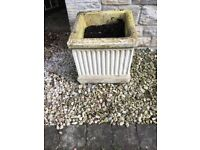 Stone planter, plant pots