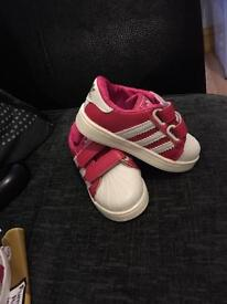Black and white & pink and white adidas Trainers!! Brand new!!