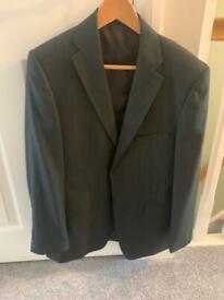 Men's 3 piece black pin striped suit