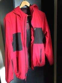 Men's hollister jacket red size medium