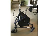 3 wheeler walker for elderly person with shopping bag - as new not used