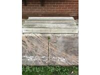 Concrete gravel boards 11 for sale £45 for the lot