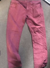 Men's River Island Red Jeans - 36R