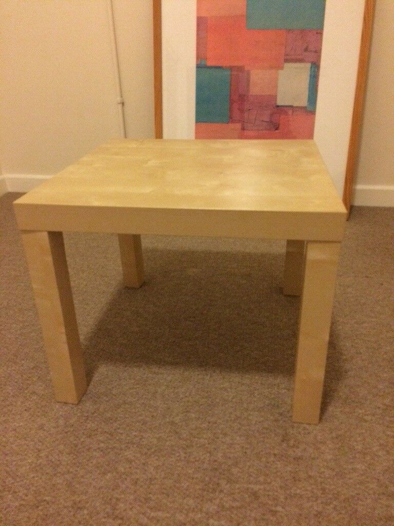 Beech veneer side table