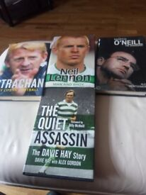 CELTIC FC. BOOKS RELATING TO CELTIC FOOTBALL CLUB AND FORMER PLAYERS.