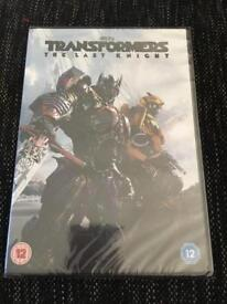 Transformers The Last Knight dvd - New sealed