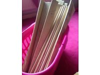 Free wooden slats for firewood or a bed