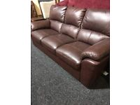 Shop exDisplay condition leather sofa