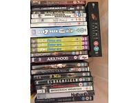 BOX OF DVDS INCLUDES BOX SETS