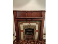 Vintage / Antique Fireplace Surround And Tiles
