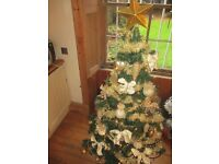 5ft christmas tree with musical lights and all the decorations
