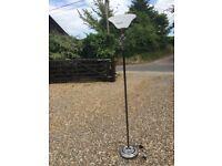 Silver freestanding lamp