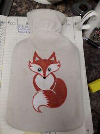 Hot water bottle - fox design