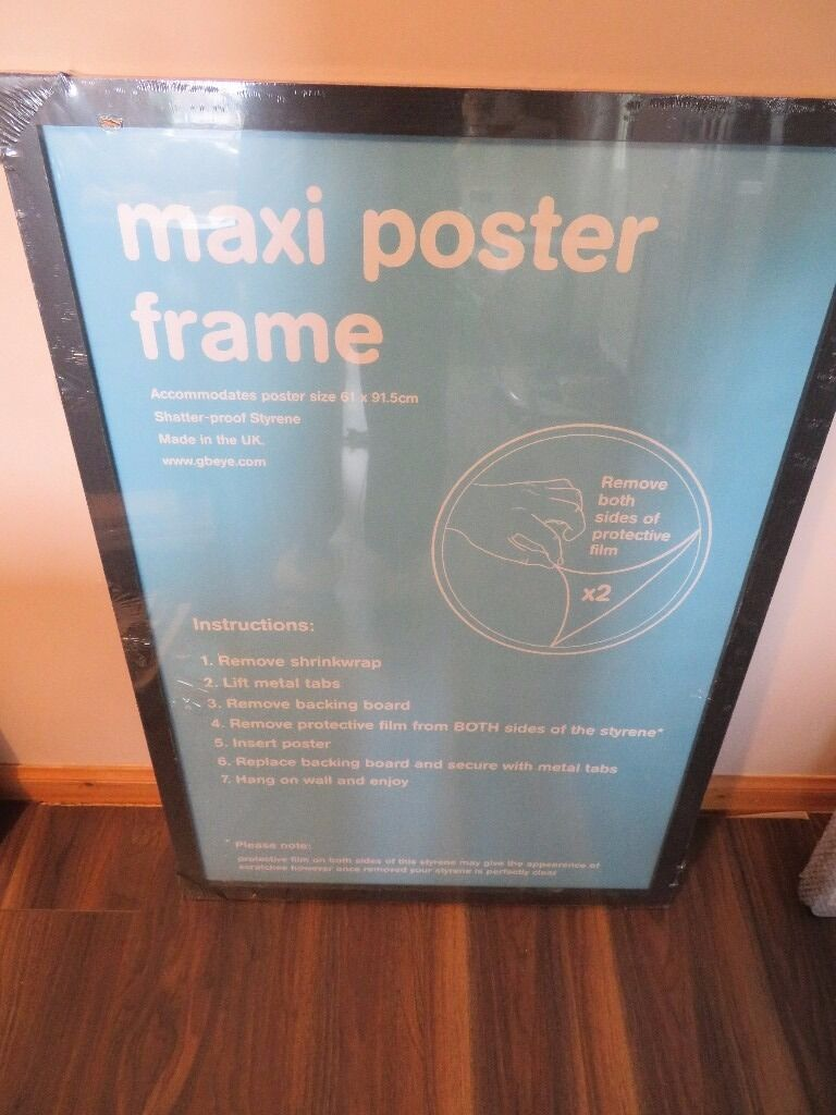 """Wooden Maxi Poster Frame61x91.5cm24x36Blackin FalkirkGumtree - Wooden Maxi Poster Frame 61x91.5cm / 24x36"""" Black Excellent for framing large posters / pictures Many thanks for looking and please see my other items"""