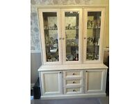 Dresser style display cabinet