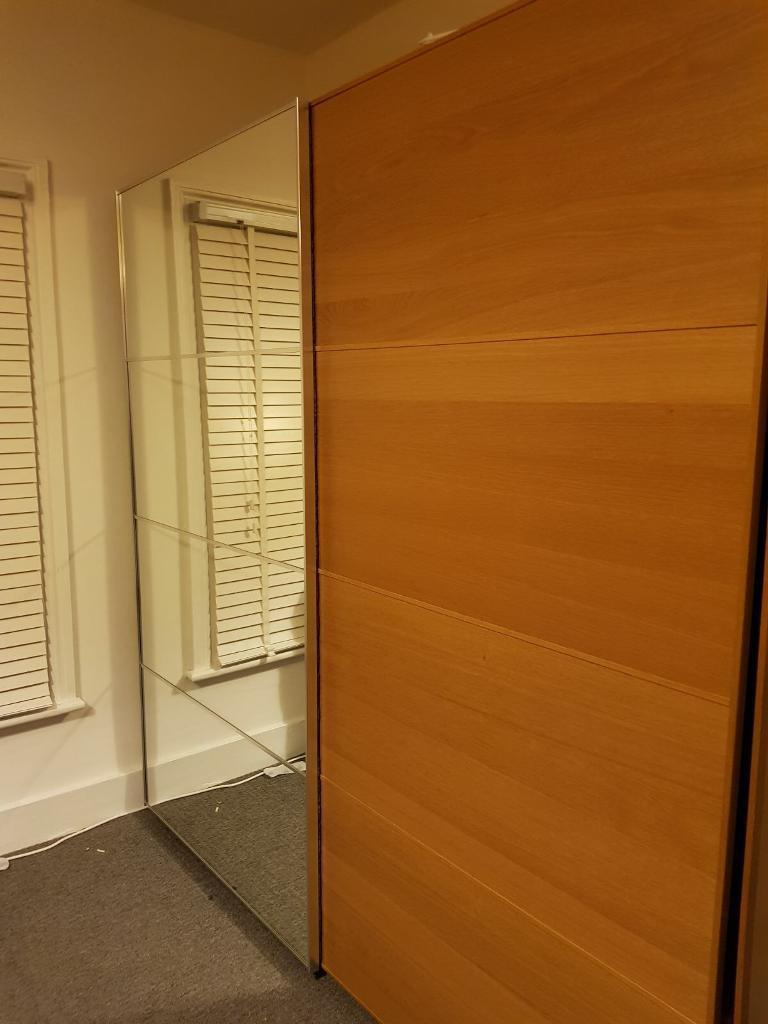 NOW SOLD - IKEA double Pax wardrobe with sliding doors