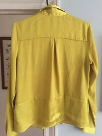 Y.A.S Yellow blouse size 10 NEVER WORN Originally £69