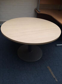 Round Meeting Table Wood