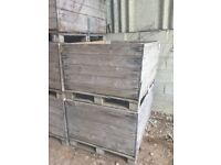 Ex-fruit bulk bins - Ideal for holding wood chipping - 250kg capacity