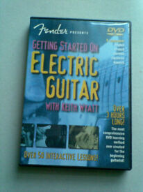 DVD ELECTRIC GUITAR TUTOR .FENDER.