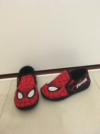 Infants size 7 brand new spider man slippers