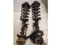 Kia Picanto 2004-2011 Two front suspension struts (springs, shocks, hubs)