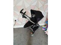 Quinny zapp xtra black parent & world facing stroller buggy pushchair