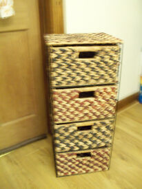 Drawer Unit Wicker 2 Tone 4 Large Spacious Drawers 1 Month Old