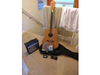 Acoustic electric guitar package - great for beginners.