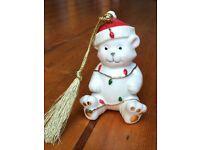 Christmas Bear Ornament by Lenox