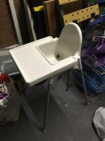 IKEA high chair with straps