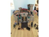 Large Play Mobil castle and figure set