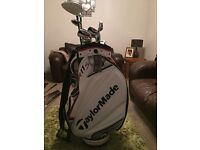 Taylormade golf clubs (full set) with brand new bag!