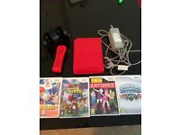 Red Limited addition wii complete with matching controller, charging station and 4 games £60!!