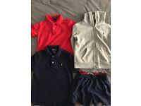 Ralph Lauren tops and swim shorts. Original. Nearly New.