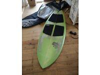 Parkes Kneeboard surfboard Diplock 5 Fin Fish 5'9, 23 5/8 x 2 5/8 Includes Rhino Bag Balin Lease.