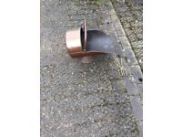 Copper Coal Bucket And Tongs