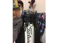 full set of golf clubs with bag also have 150 balls